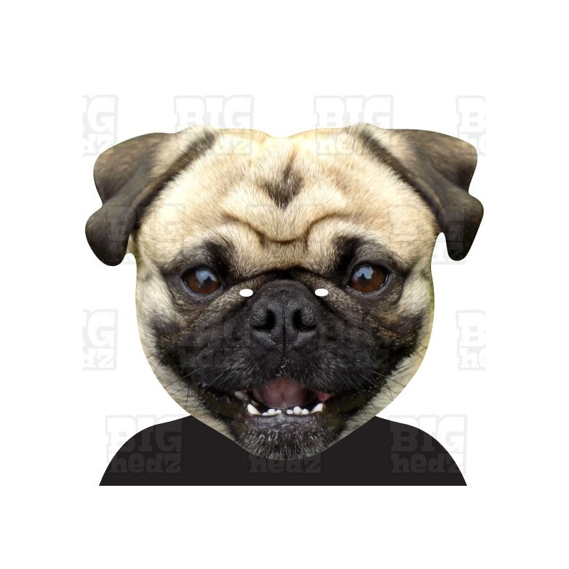 PUG DOG A3 Face Mask By BIGhedz The Home Of BIG A3 Face
