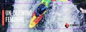 woman on kayak film poster
