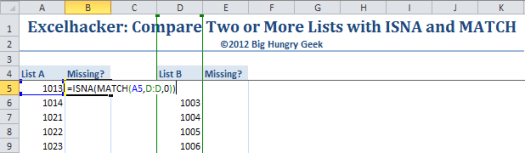 compare two worksheets in excel