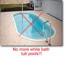 does a fiberglass pool need tile