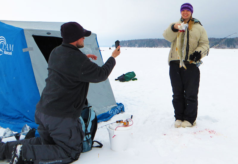 Ice Fishing Lake Superior Lake Trout