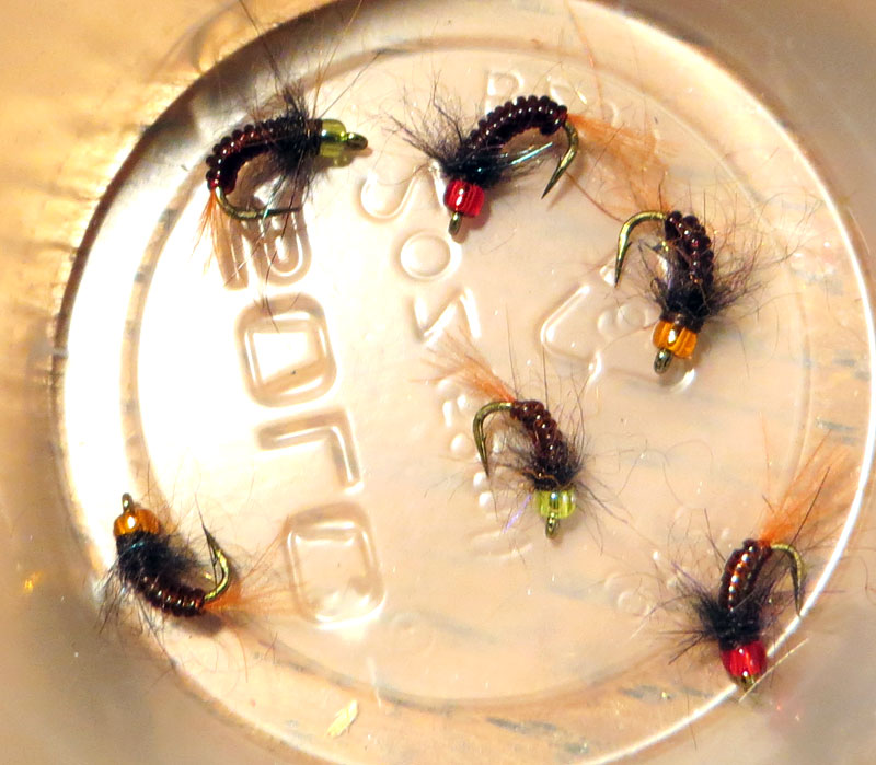 fly tying with glass beads