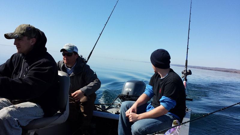 Jigging Lake Trout on Lake Superior