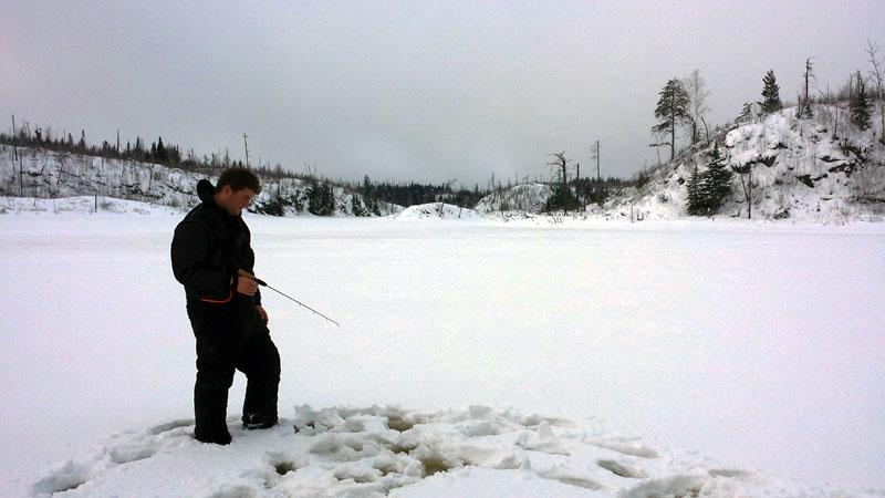Ice Fishing Trout Northern Minnesota