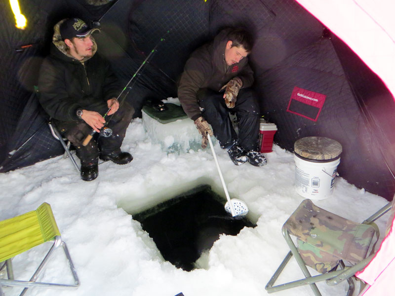 Ice Fishing Trout Northern Minnesota