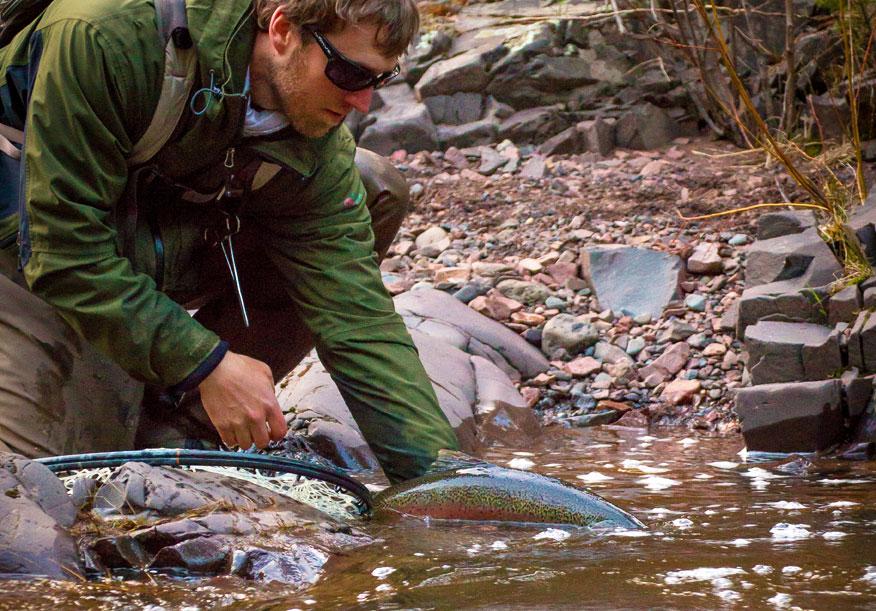 Fishing Steelhead in Minnesota Waters of Lake Superior