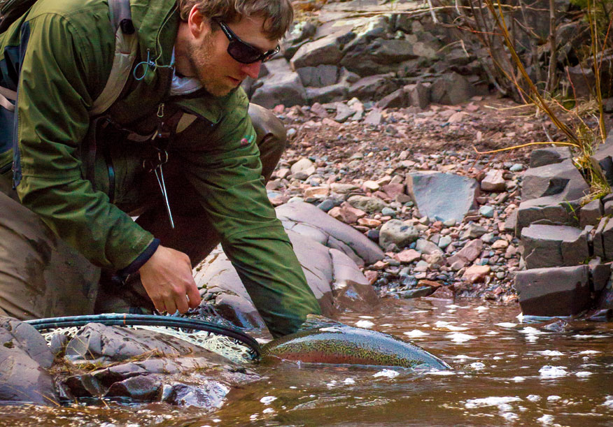 Fishing Steelhead in Minnesota Waters of Lake Superior
