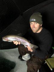 Ice Fishing Rainbow Trout Minnesota
