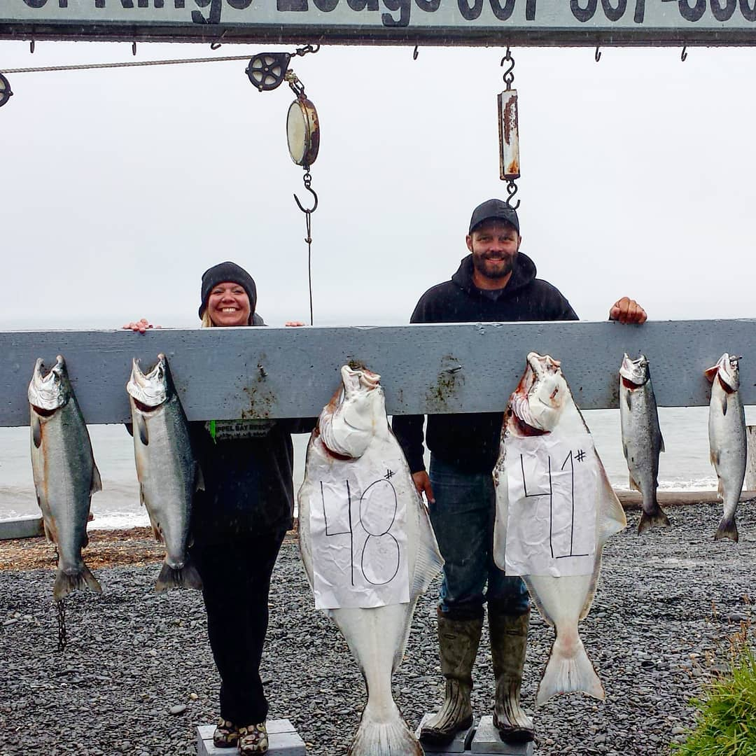 Halibut and Salmon Fishing Lower Cook Inlet Alaska