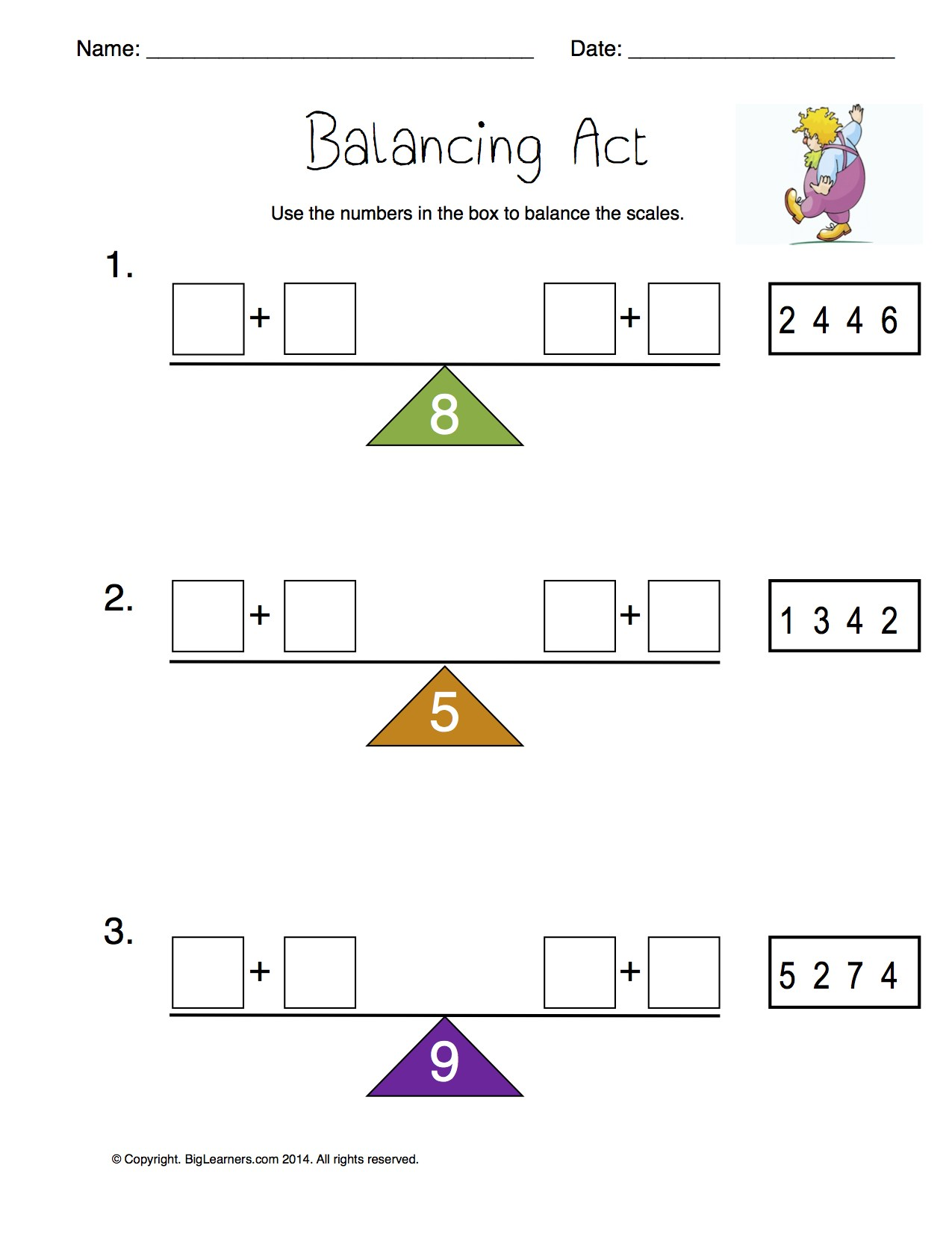 Oa Worksheets Grade 1