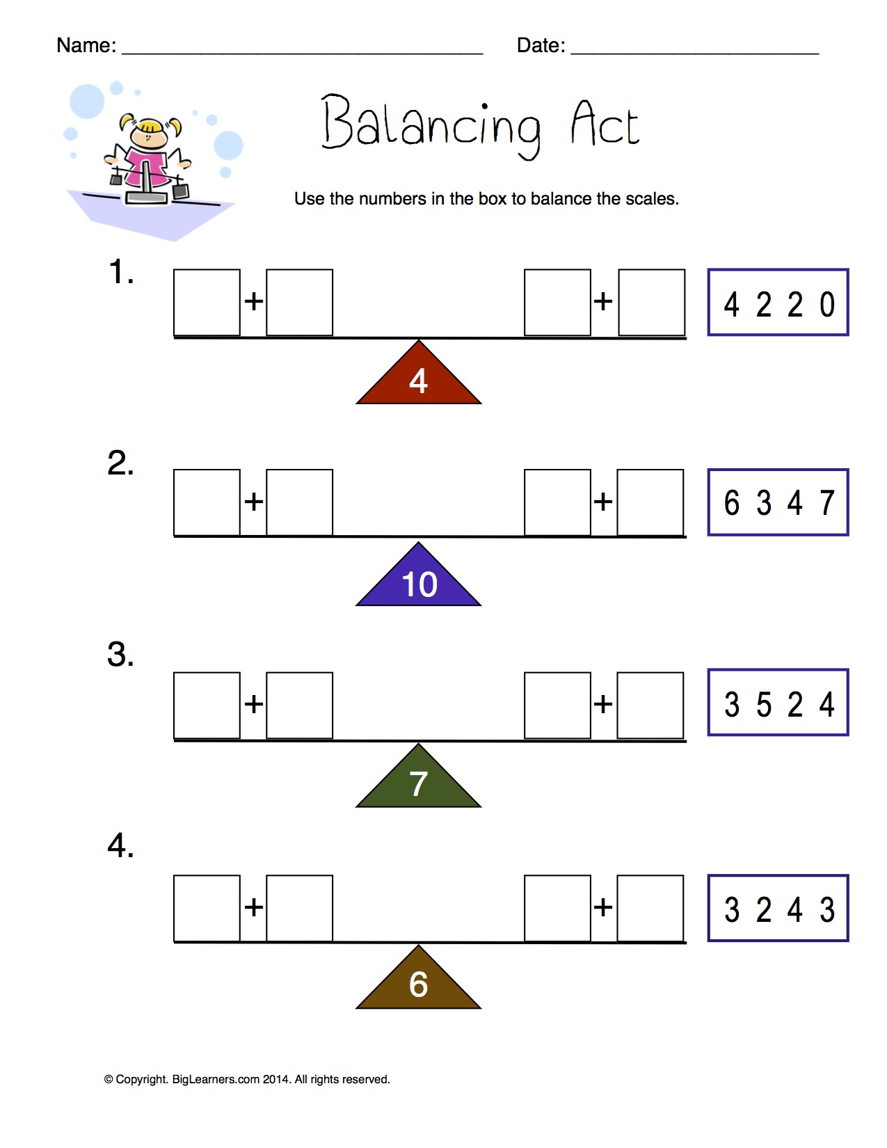 Addition Sentences And Equations