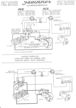 Wiring schematic for Series Parallel switch  Antique