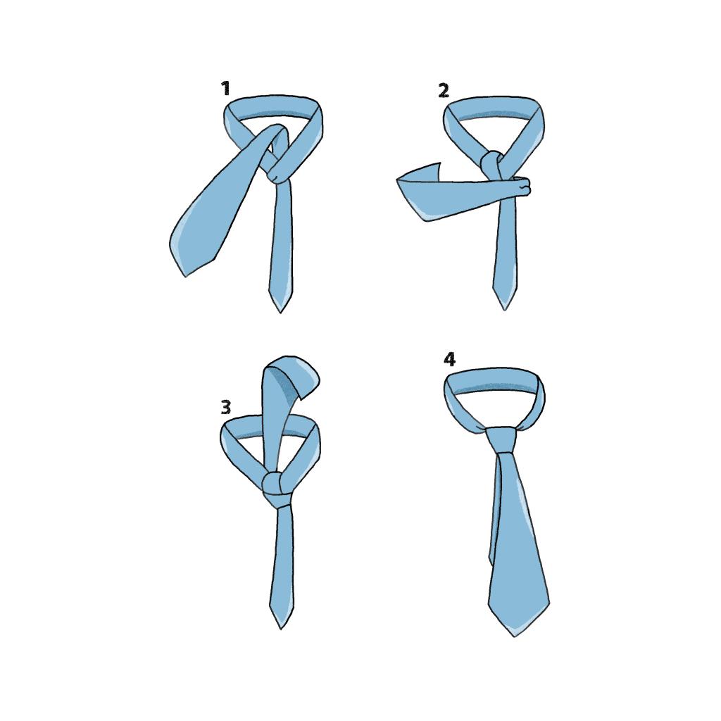 nouer cravate noeud demi-winsdor