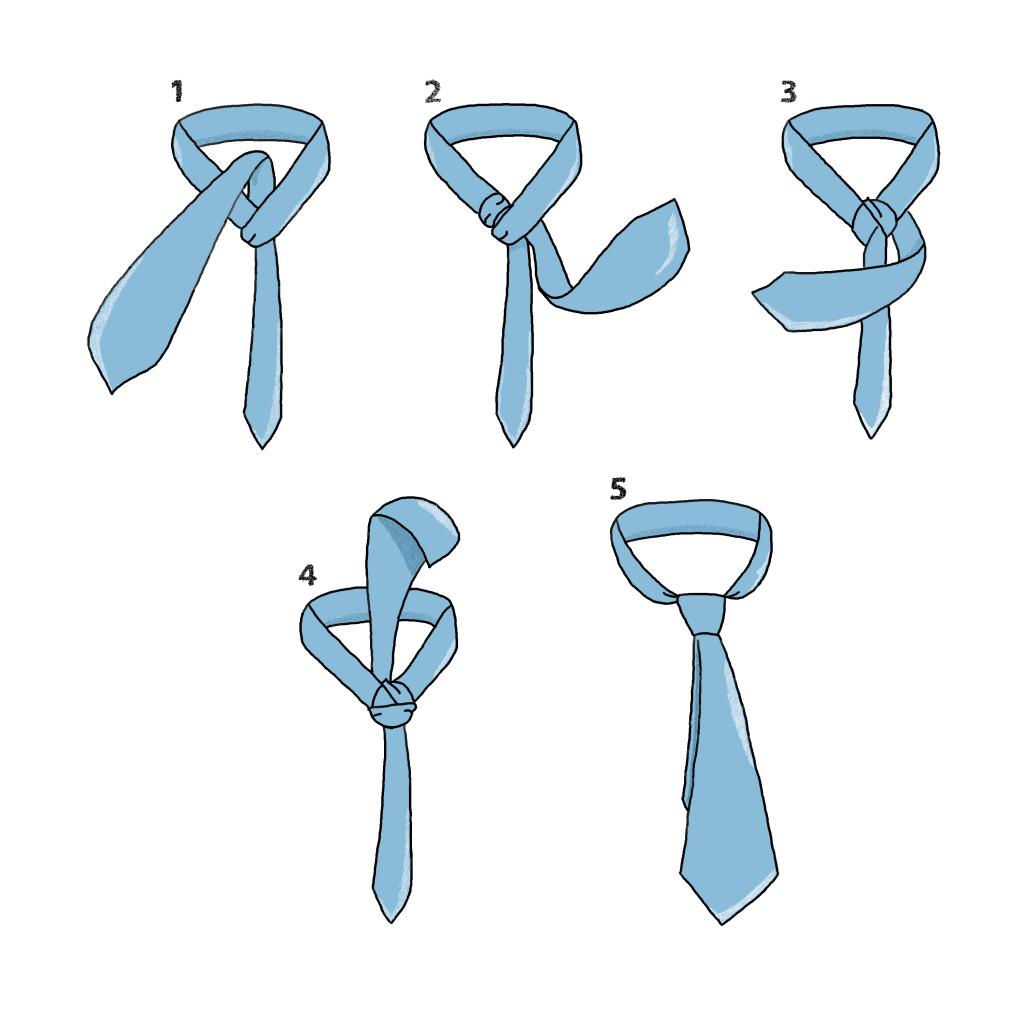 nouer cravate noeud windsor