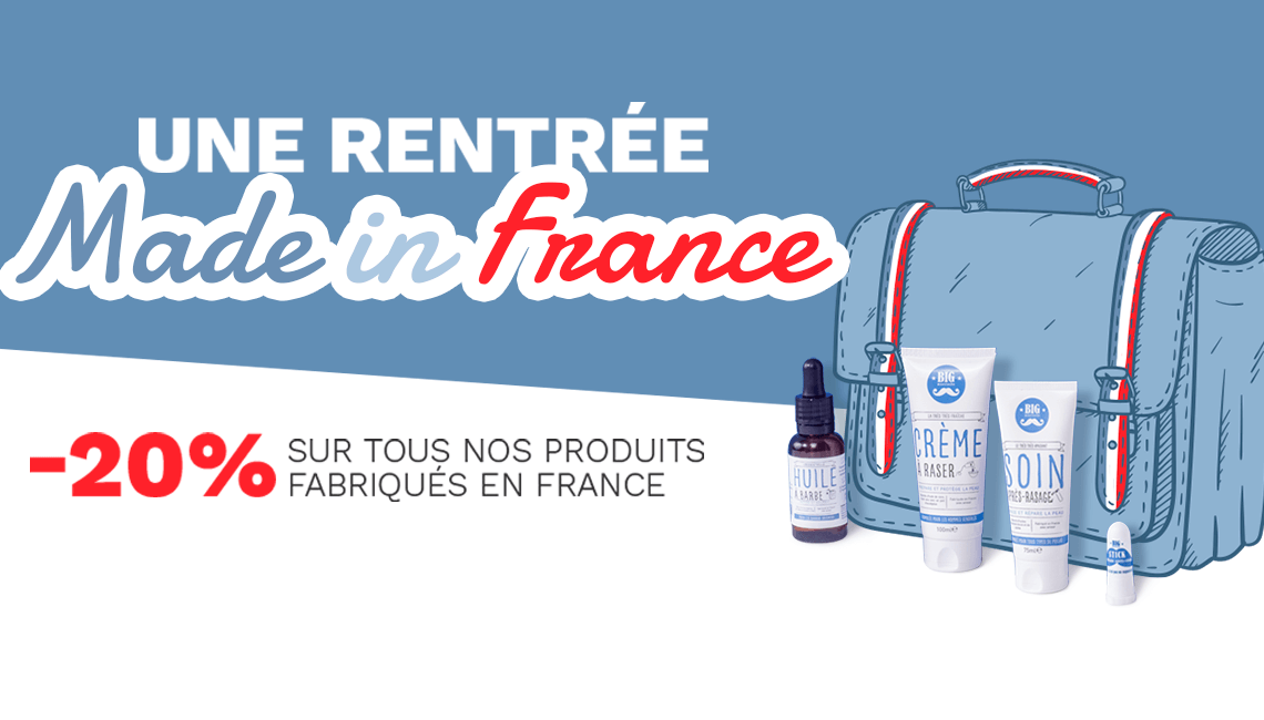 made in France produits rasage réduction