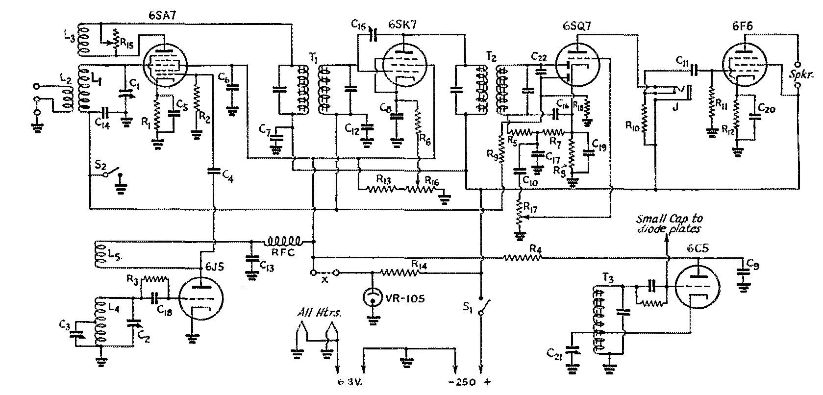 Pin Regenerative Receiver For 40 Meters