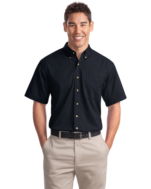 Port Authority Mens Short Sleeve Twill Dress Shirt