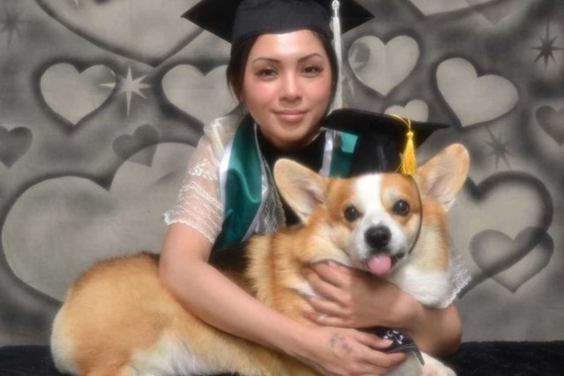 Amee celebrates her graduation with Spax