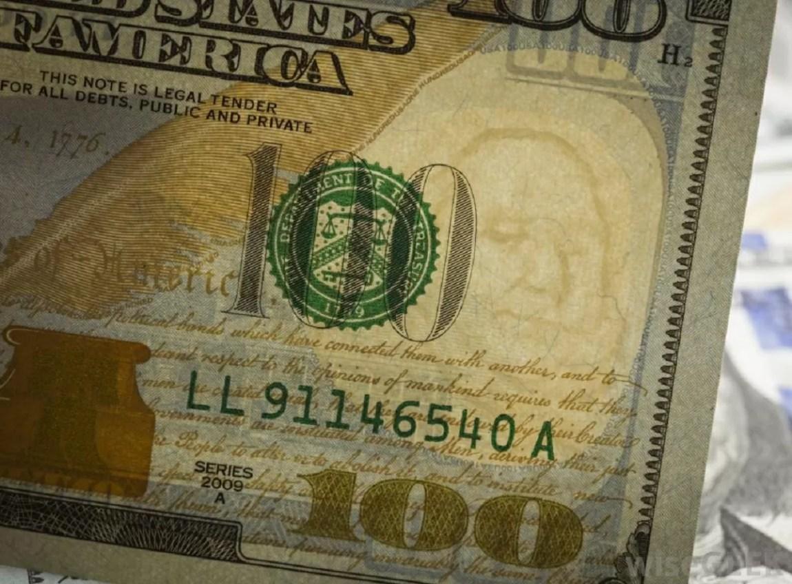 banknotes inside the dresser