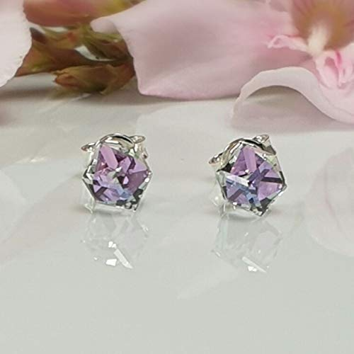 Caprices d'Alina - Stud earrings in 925 silver and SWAROVSKI crystals