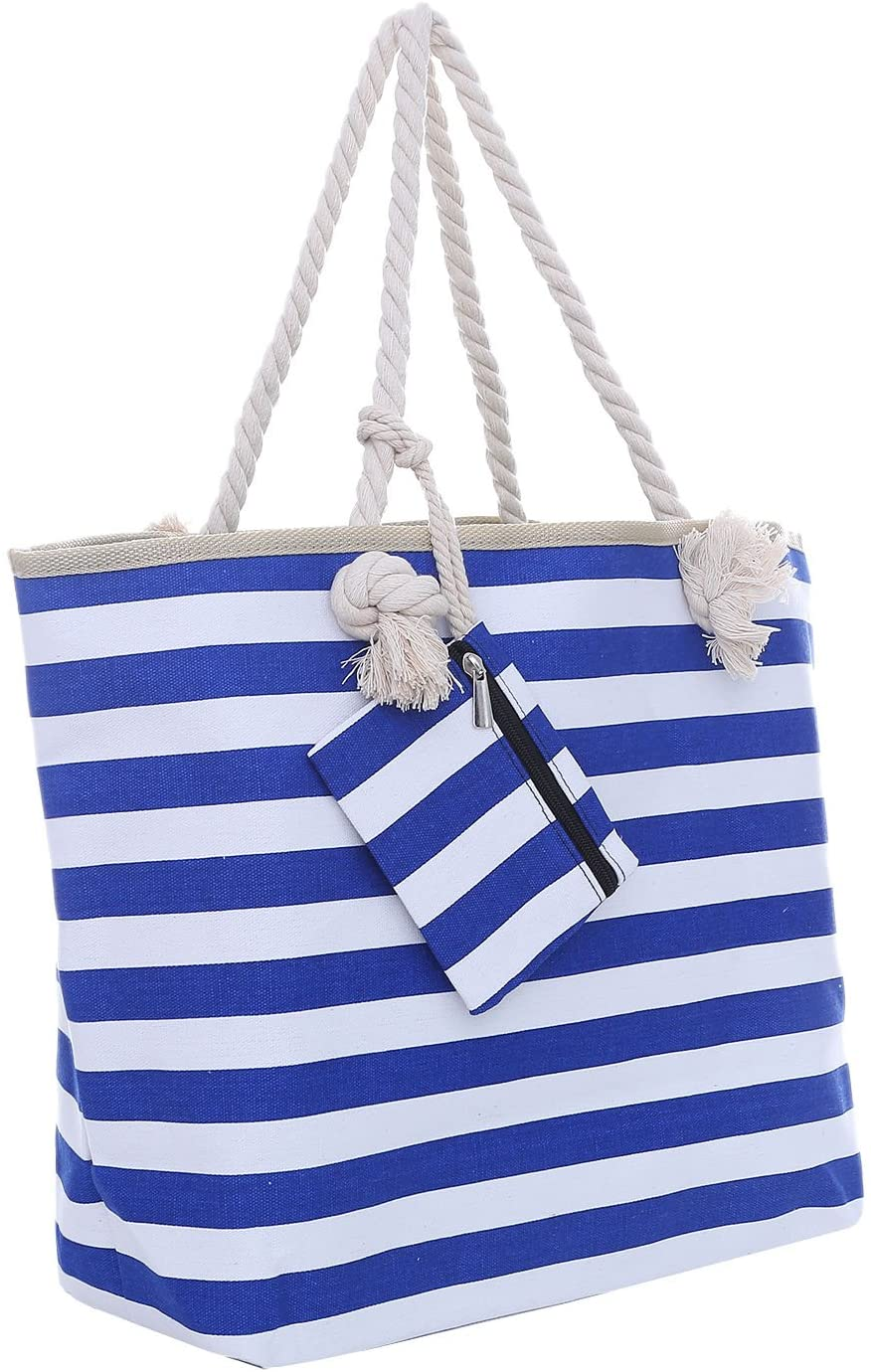Large beach bag with zip closure
