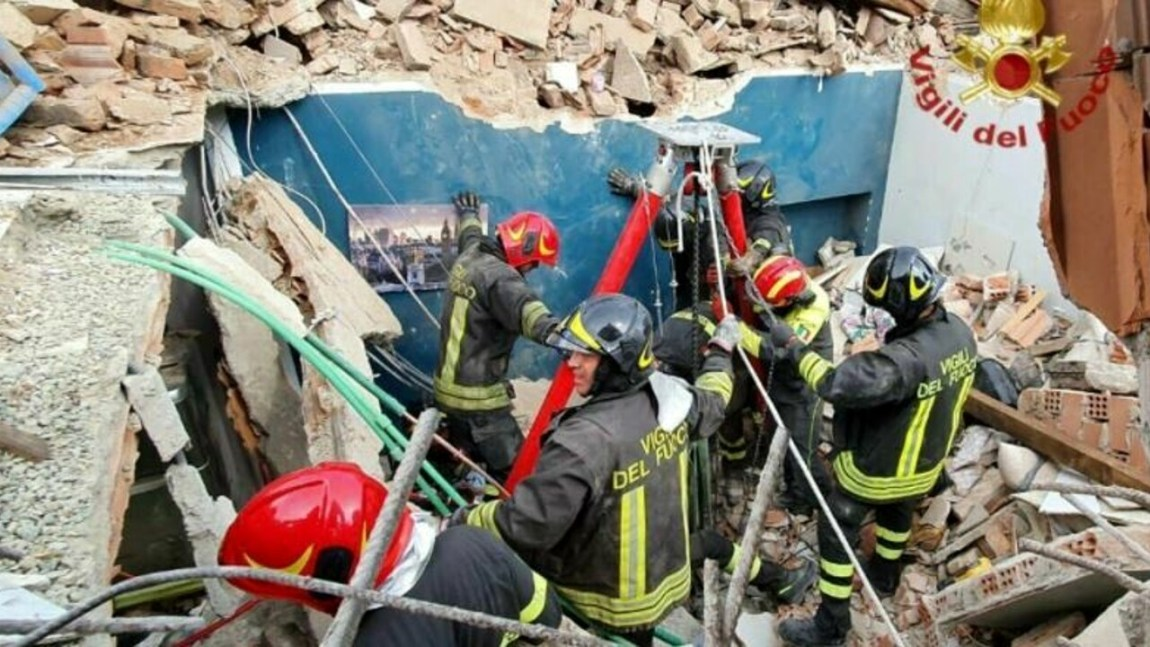 collapse of the building in Turin