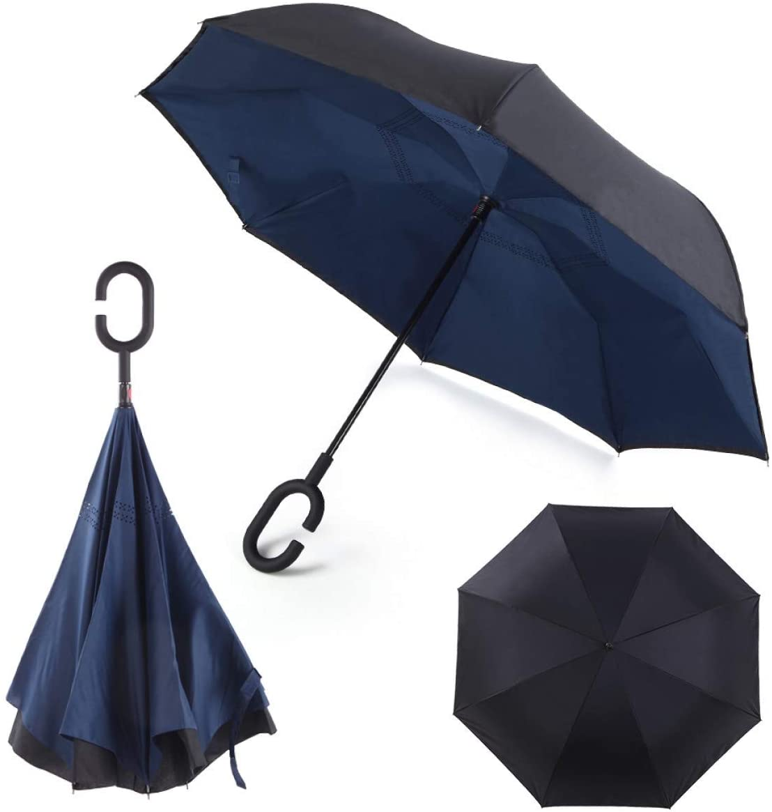 Double layer foldable inverted umbrella Advers
