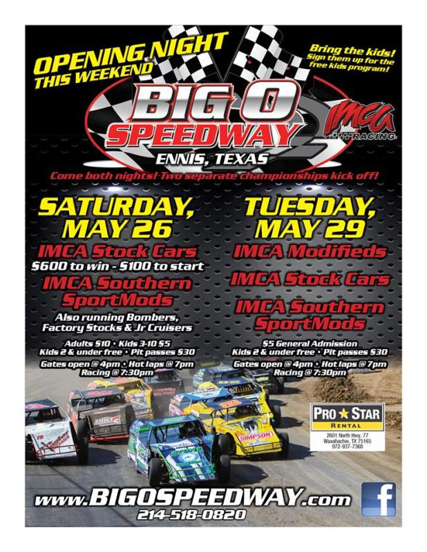 Big O Speedway gets season underway this Saturday, May 26th! – Big O