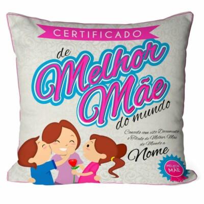 Almofada Personalizada Melhor Mãe Com Nome
