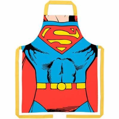 Avental Superman Body Em Algodão 80x70cm