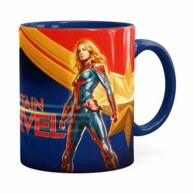 Caneca Capitã Marvel 3d Print Azul Escuro