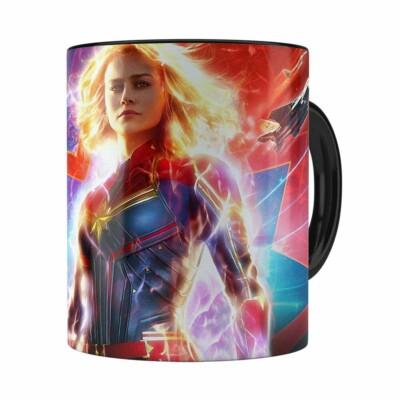 Caneca Capitã Marvel Filme V03 Preta