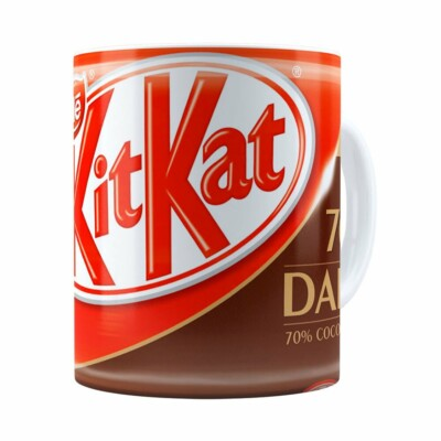 Caneca Chocolate Kitkat Dark Branca