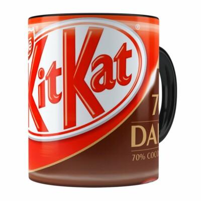 Caneca Chocolate Kitkat Dark Preta