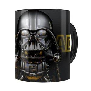 Caneca Darth Vader 3d Print Star Wars Yellow Preta