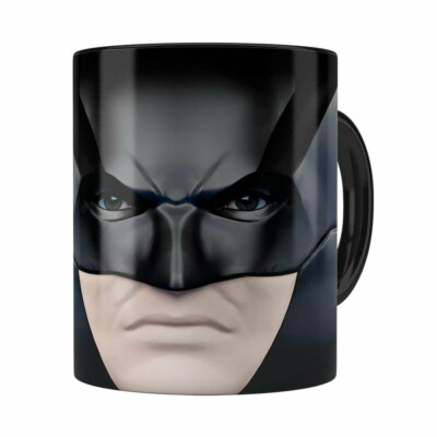 Caneca Do Batman 3d Print Face Preta