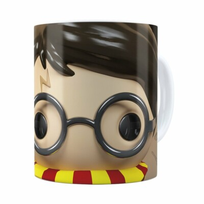 Caneca Harry Potter 3d Print Branca