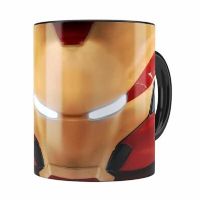 Caneca Homem De Ferro 3d Print Avengers Preta