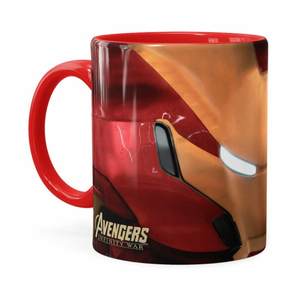 Caneca Homem De Ferro 3d Print Avengers Vermelha