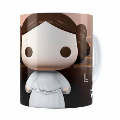 Caneca Princesa Leia 3d Print Star Wars Branca