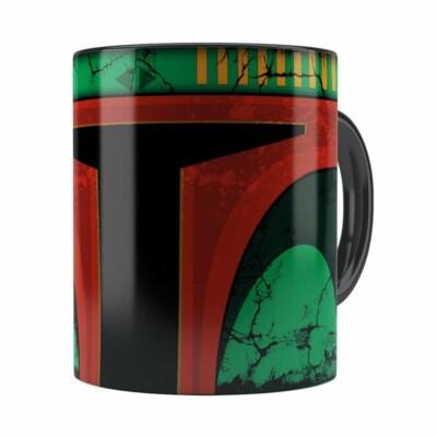 Caneca Star Wars Boba Fett 01 Cabeça Preta
