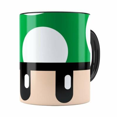 Caneca Toad Super Mario Bros Verde Preta