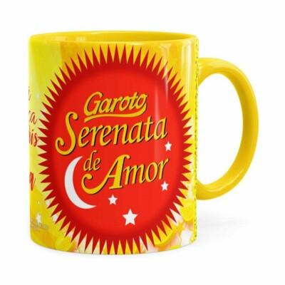 Caneca Chocolate Serenata De Amor V03 Amarela
