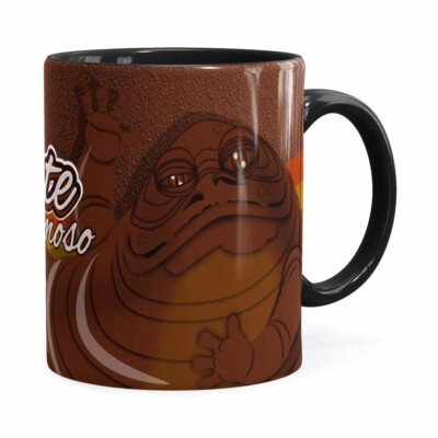 Caneca Chocolate Star Wars Jabba The Hutt Preta
