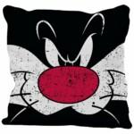 Capa De Almofada Frajola Big Face Looney Tunes