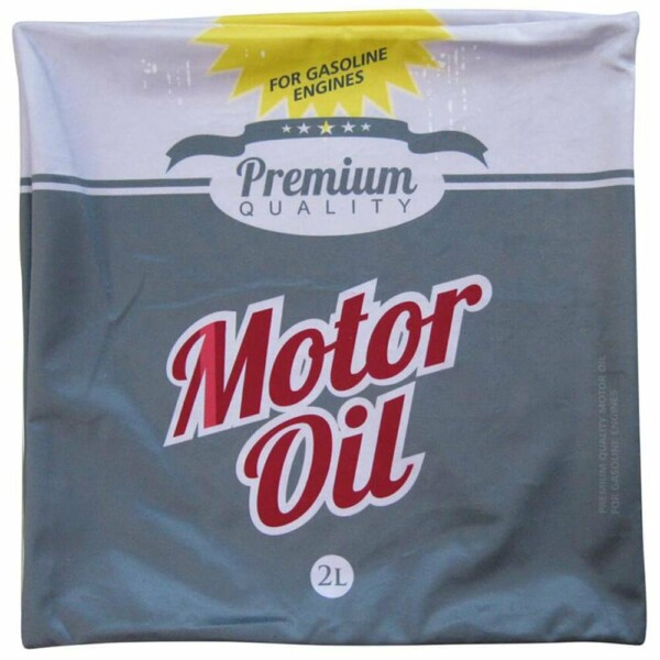 Capa De Almofada Loft Motor Oil Cinza 45x45cm