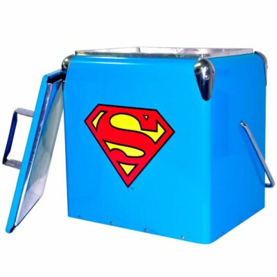Cooler De Bebidas Superman Logo Azul