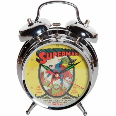 Relógio Despertador Superman Cover Metal