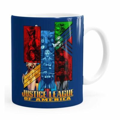 Caneca Liga Da Justiça V01 Branca