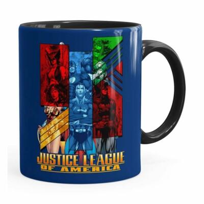 Caneca Liga Da Justiça V01 Preta